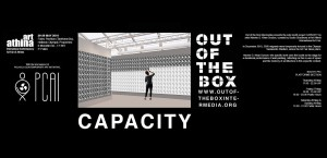 """Platforms Project@Art-Athina 2016, P51, Out Of The Box Intermedia, """"Capacity"""" by Navine G. Khan Dossos, οngoing performance during the opening hours of the fair"""