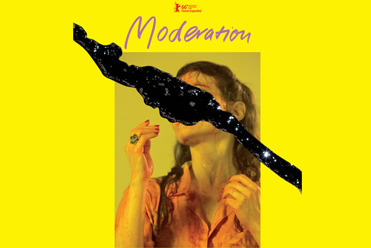 Poster for the film Moderation by Anja Kirschner, Berlinale, 2016
