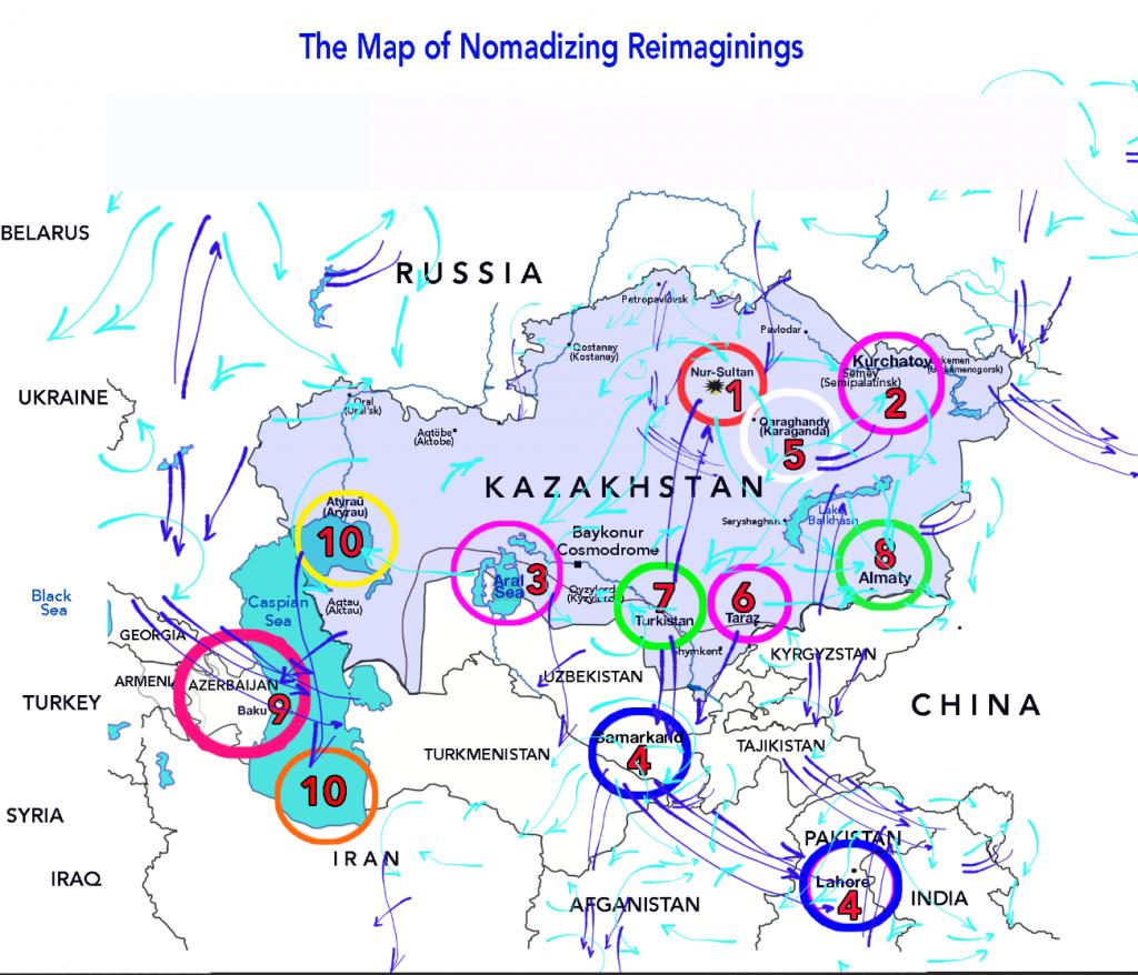 The Map of Nomadizing Reimaginings. Almagul Menibayeva copy